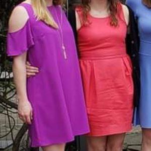 Gianni Bini Dresses - Gianni Bini Cold Shoulder Purple Dress - M